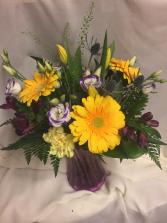 Grateful to Have You vase