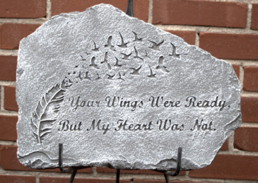 Your wings were ready plaque