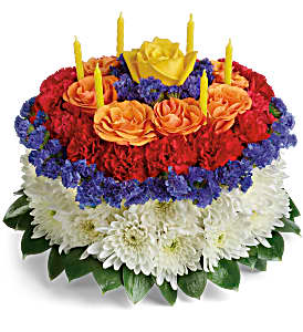 Your Wish is Granted Birthday Cake Bouquet in Coral Springs, FL | DARBY'S FLORIST