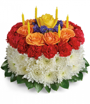 Your Wish Is Granted Birthday Cake Bouquet	 All-Around Floral Arrangement