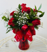 Half a Dozen Long Stem Roses Flowers