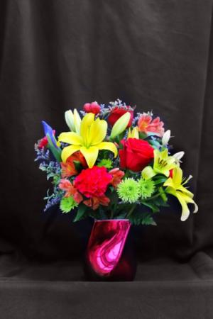 You're Brilliant Fresh Vase Arrangement