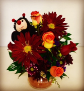 You're My Favorite Candle & Fall Floral Duo with Stuffed Animal