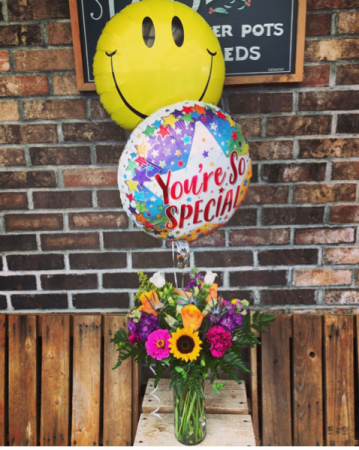 You're so SPECIAL flowers and balloons