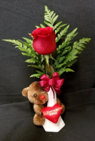 You're So Sweet Lil' Rose Bud Vase Arrangement