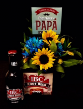 You're The Best Dad! Root Beer & Floral Arrangement