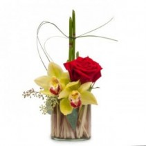 YOU'RE THE BEST! Secretaries Day Orchid Cube Arrangement
