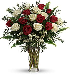 Yours Truly Bouquet (18 long stems roses) floral arrangement