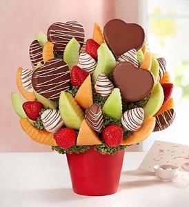 You've got my heart fruit bouquet Valentine Fruit Bouquet