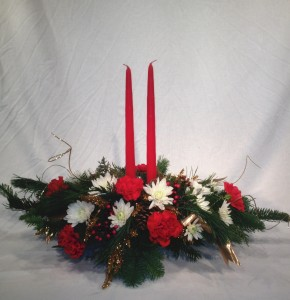Yueltide Greetings Candled Centerpiece in Sandwich, IL | JOHNSON'S FLORAL & GIFT