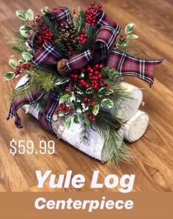Yule Log Centerpiece