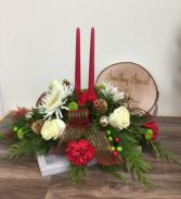 Yuletide candlelight Christmas