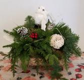 Yuletide Log arrangement Christmas Centerpiece