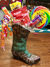 Yummy Candy Boot Bouquet