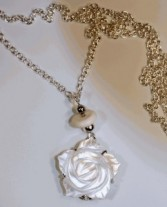 Zebra and Co Rose Pendant on Stacking Necklace