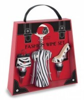 Zebra Set Wine Bottle Stopper and Openers