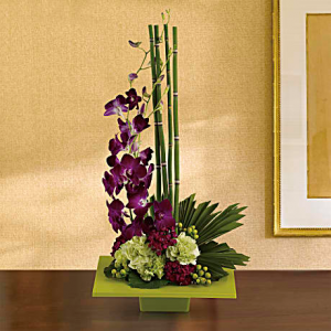 Zen Artistry T81-1A one-side arrangement in North Fort Myers, FL | North Fort Myers Florist