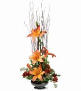 Zen Lilies Fall Arrangement