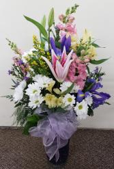 Zentastic Colored Crackle Vase  Keepsake Floral Vase
