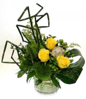 Zest For Life Vase Arrangement in Invermere, BC | INSPIRE FLORAL BOUTIQUE