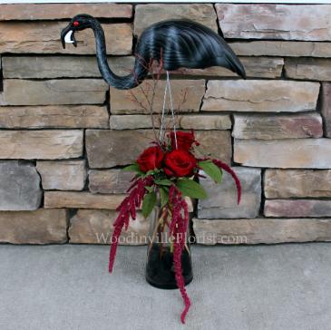 Zombie Flamingo  Halloween Flowers